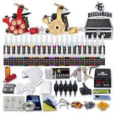 tattoo kit without machine tattoo kit 2 machine gun 40 color ink tip power supply set 50