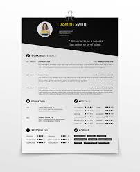 One Page Resume Sample by Simple Resume Template Vol 3