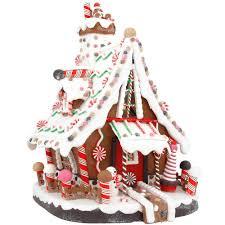 12 inch lighted gingerbread house bronner u0027s christmas wonderland
