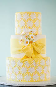 yellow wedding cake with daisies daisy cakes wild orchid and