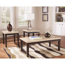 Ashley Outdoor Furniture Signature Design By Ashley Wilder Espresso Occasional Table Set