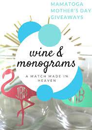 home accessories monogrammed wine glasses wine glass koozies