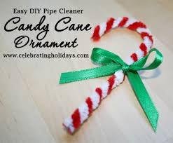 candy cane pipe cleaner ornament for christmas celebrating holidays