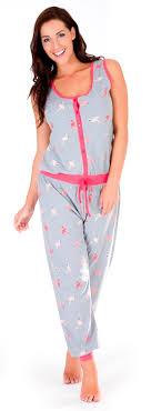 pj jumpsuit womens sleeveless all in one pyjamas jumpsuits nightwear