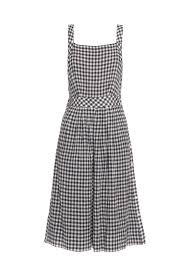 sea gingham pinafore dress in blue lyst