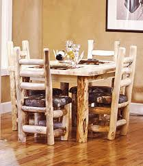 Log Dining Room Table Rustic Log Dining Room Furniture Aspen Log Dining Room Tables