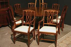 Edwardian Inlaid Solid Mahogany Dining Room Chairs Federal Or - Mahogany dining room set