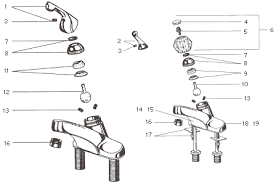delta kitchen faucet repair parts delta faucet 980t sssd dst parts list and diagram