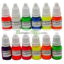 skin candy blacklight orange tattoo ink 1 oz blacklight and uv