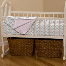 pink and gray chevron cradle bedding carousel designs