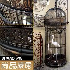 fashion large rustic wrought iron birdcage antique iron bird nest