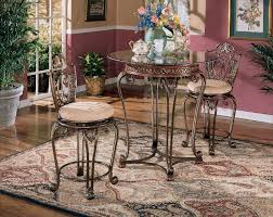 The Opulence 225 48 Ashley Opulence Ii Cherry Stain Finish Counter Hght Tbl