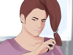 hair style angled toward face 3 ways to cut long layers wikihow