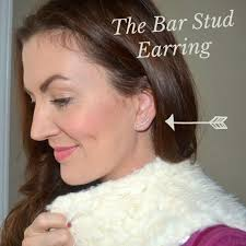 gold bar stud earrings the accessory you need for 2015 jennysue makeup