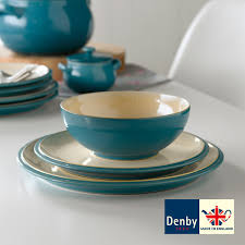 Dining Steel Plate Set Costco Uk Denby Cook And Dine Turquoise 12 Piece Dinnerware Set