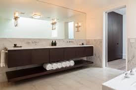 modern custom floating bathroom vanity with black red varnished