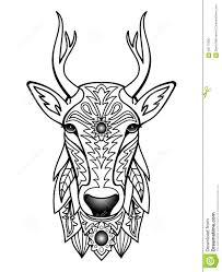 ornamental deer stock vector image of background illustration