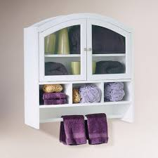 bathroom wall storage ideas vintage white wooden bathroom wall cabinet with curved glass door