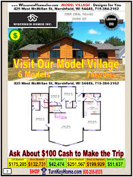 model village of modular homes priced from wisconsin home inc