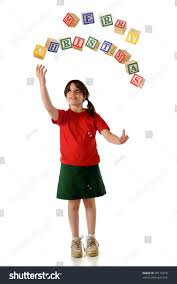 happy juggling alphabet blocks that stock photo 40115818