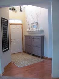 Ideas For Shoe Storage In Entryway Ikea Hemnes Shoe Cabinet In A Hallway Before And After Entry