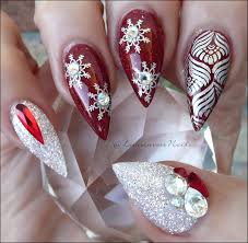 christmas french tip nail art best nail 2017 gel nails christmas