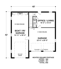 Floor Plan Of An Apartment Lower Level Floorplan Image Of Boat Rv Garage Office House Plan