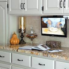 tv in kitchen ideas kitchen cabinets tv in cabinet fancy inspiration for