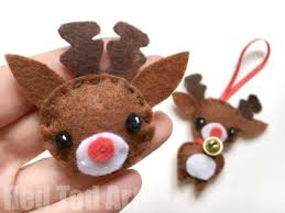 felt reindeer ornament ted s