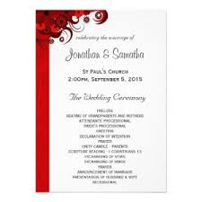 wedding reception program sle wedding reception program template template business