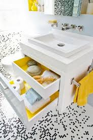 Kids Bathroom Designs In White Small White Hanging Wooden Vanity With Storage Drwers Washbasin