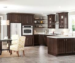 How To Clean Cherry Kitchen Cabinets by Dark Cherry Kitchen Cabinets Wall Color With Black Granite