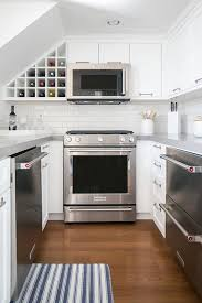 Microwaves That Mount Under A Cabinet by Small Kitchen With White Upper Cabinets And Gray Lower Cabinets