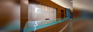 Glass Reception Desk New Glass Reception Desk By Nathan Allan Glass Studios Inc