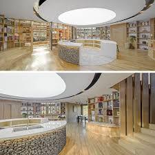 cuisine plancher bois plancher bois façade en brute et une bibliothèque époustouflante