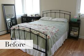 Diy Master Bedroom Wall Decor A Rental Friendly Solution For Plank Walls The Crazy Craft Lady