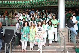 Indian Flag Hoisting Knot Telenor Pakistan Has Decorated Its Entire Headquarter With Mammoth