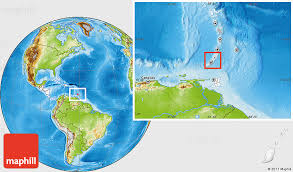 grenada location on world map physical location map of grenada highlighted continent