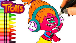 army coloring book trolls movie coloring book episode 7 dj suki and poppy speed