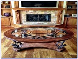 wrought iron wood and glass coffee table coffee table home