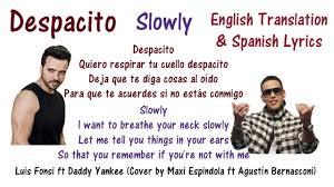 best part lyrics spanish despacito lyrics in english and spanish luis fonsi ft daddy yankee