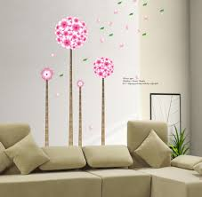 cheerful home decor wall art ideas presenting beauty seeds in pink