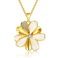 plated rose gold necklace images Necklaces women korean flower gold plated rose gold plated alloy jpeg
