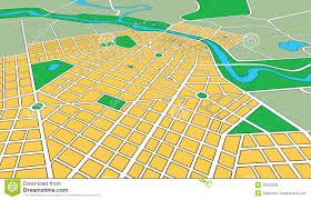 Generic Mapping Tools Map Of Generic Urban City In Perspective Angle Royalty Free Stock