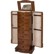 Jewelry Armoire With Lock And Key Armoire Jewelry Cabinet Box Storage Chest Stand Organizer Necklace