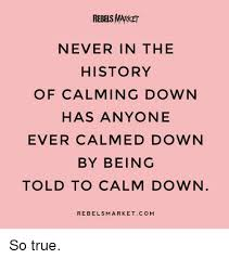 True History Meme - rebels market never in the history of calming down has anyone ever