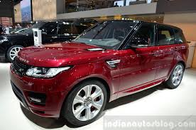 land rover india 2015 range rover sport front three quarter at the 2014 paris motor
