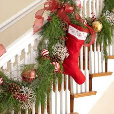 How To Decorate A Banister Holiday Decorations Entryway Stairway Jpg