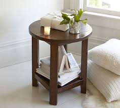 barn door side table benchwright round side table rustic mahogany on barn door coffee
