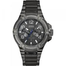 bracelet watches guess images Mens watch guess rigor steel bracelet multifunction blue gray 100 jpg